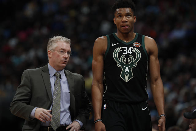 Giannis Antetokounmpo is up to the playoff challenge, but is Bucks coach Joe Prunty? (AP)