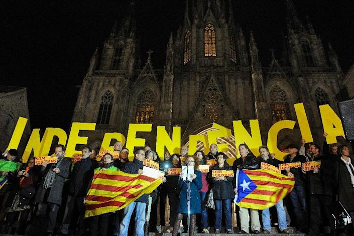 Catalans have nurtured a separate identity for centuries, but an independence movement surged recently as many became disillusioned with limitations on the autonomy they gained since the late 1970s after the Francisco Franco dictatorship (AFP Photo/Josep Lago)