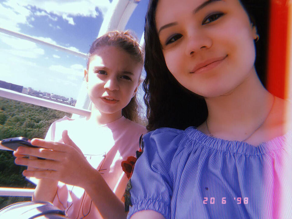 Victims 17-year-old Diana Erov (right) and 11-year-old Dayana Erov (left) are pictured.