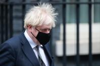 Britain's Prime Minister Johnson leaves Downing Street in London
