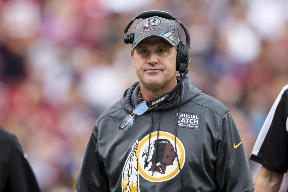 Coach Jay Gruden was fired by the Washington Redskins. (Getty Images)