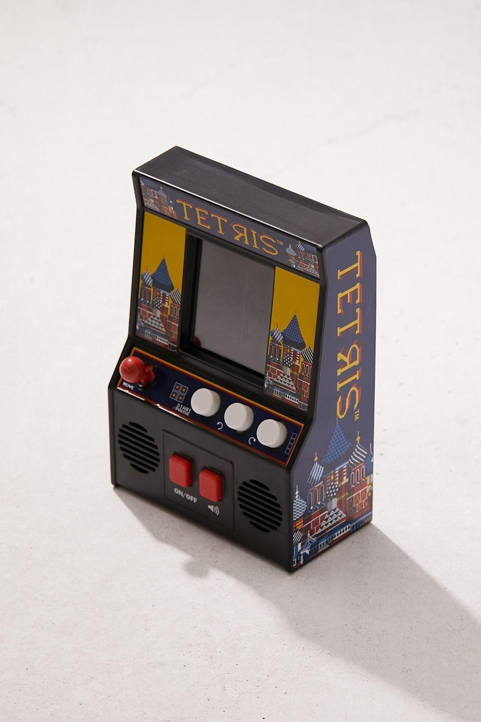 <p>This addictive <span>Handheld Tetris Arcade Game</span> ($20) will be a hit! </p>