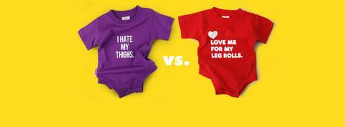 412c2c14 Baby Onesie Message Stirs Controversy: 'I Hate My Thighs'