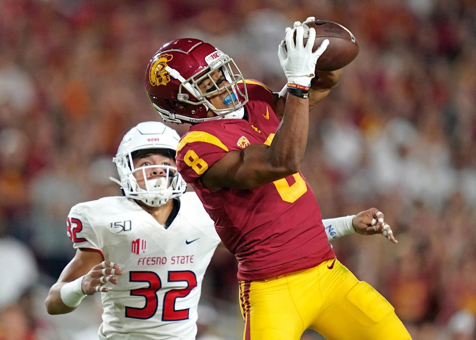 USC receiver Amon-Ra St. Brown is one of the top players left at the position entering Day 3 of the NFL draft.