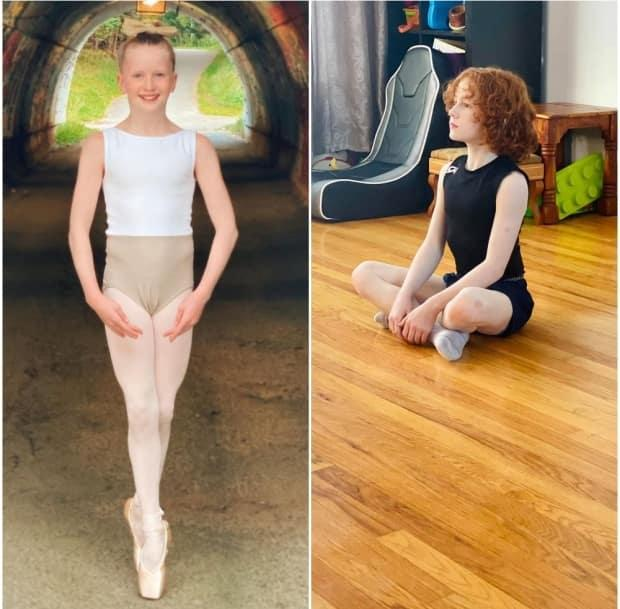 Bryony Fowler, 11, and Lennox Powell, 9, have both been accepted to the National Ballet School's summer program. (Submitted by Krista Fowler - image credit)