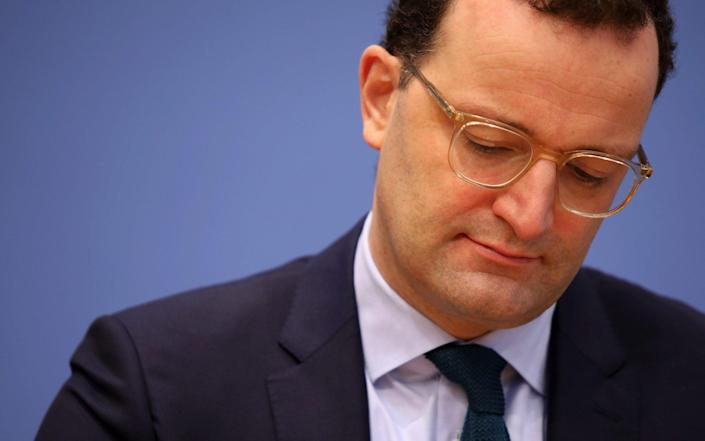 Jens Spahn, Germany's health minister, pauses during a Coronavirus update news conference in Berlin, Germany, on Friday, Jan. 22, 2021. Thefatalitiesin Europe's largest economy underscore the urgency facing Chancellor Angela Merkel's government to slow the spread of the disease and guard against new mutations.Photographer: Liesa Johannssen-Koppitz/Bloomberg - Liesa Johannssen-Koppitz/Bloomberg