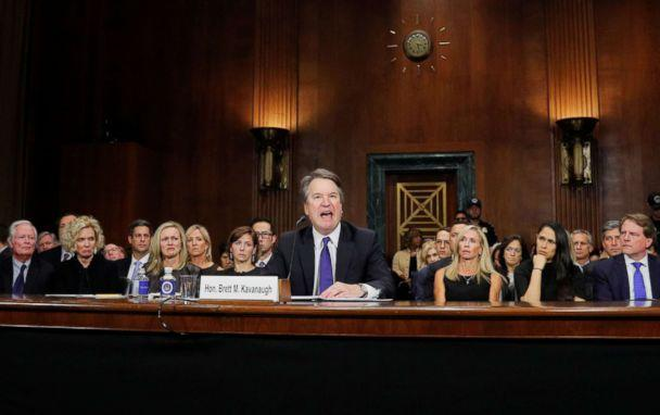 PHOTO: Supreme Court nominee Brett Kavanaugh testifies before a Senate Judiciary Committee confirmation hearing on Capitol Hill in Washington, Sept. 27, 2018. (Jim Bourg/Reuters)
