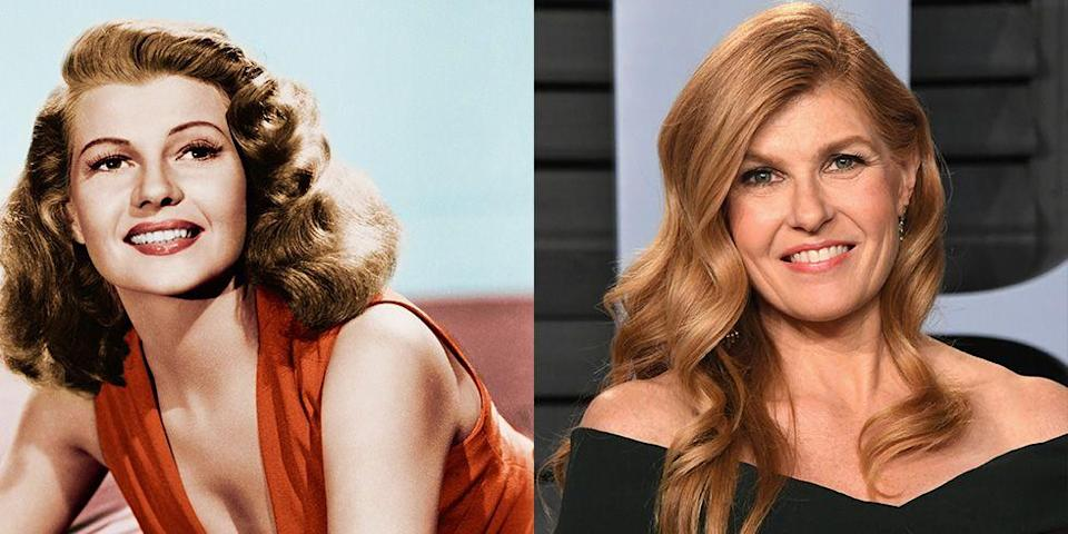 <p>Besides the fact that both actresses have long golden red hair, Connie Britton's sparkling eyes are very similar to those of 1940s film star Rita Hayworth. </p>