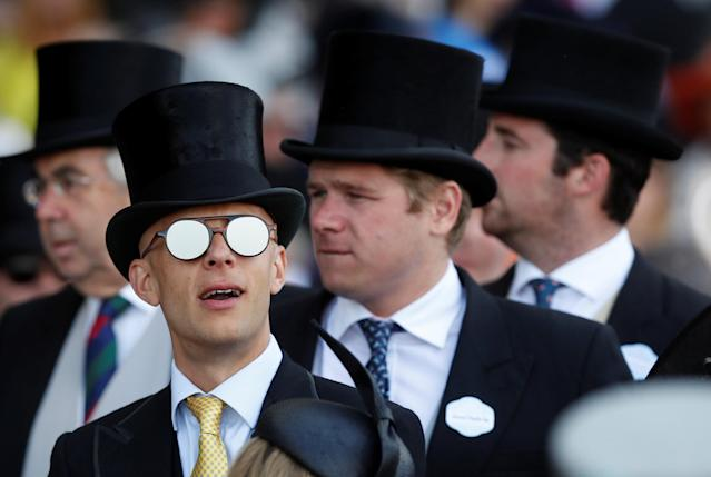 Horse Racing - Royal Ascot - Ascot Racecourse, Ascot, Britain - June 21, 2018 A racegoer before the start of the racing Action Images via Reuters/Paul Childs
