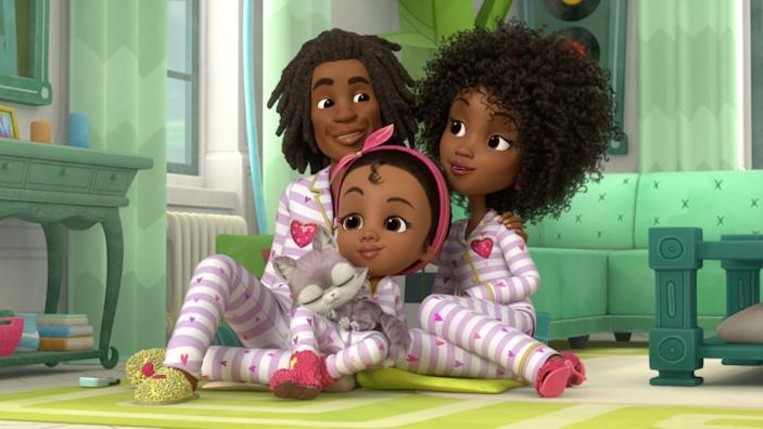 """Made by Maddie,"" airing on Nick Jr. later this month, bears a striking visual resemblance to the Oscar-winning film ""Hair Love."" <span class=""copyright"">(Nickelodeon)</span>"