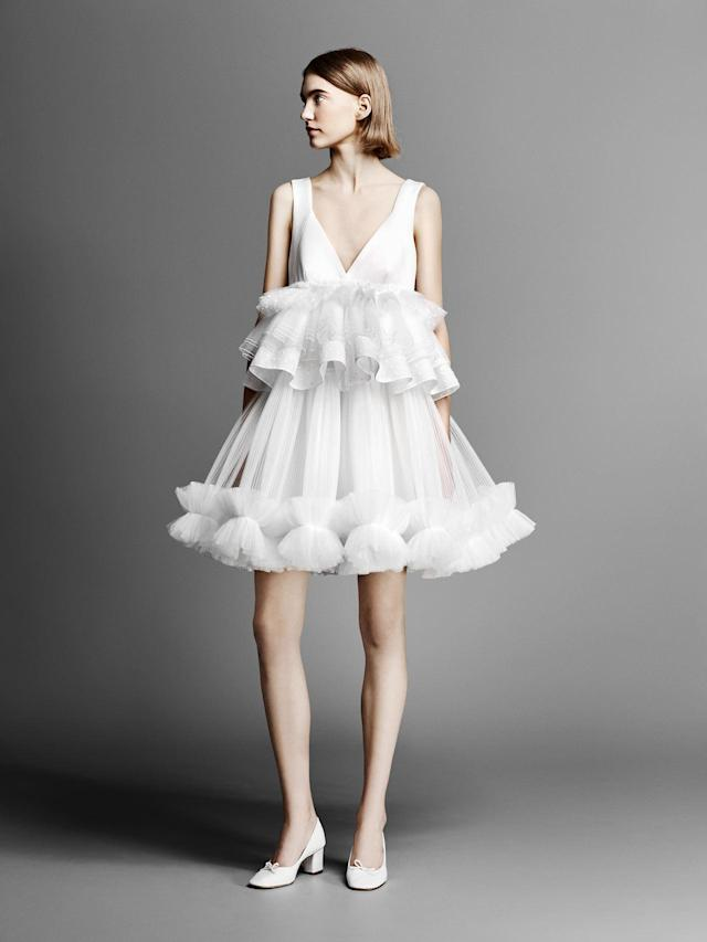 <p>Ruffle mini frock — a perfect look for the after-wedding reception. (Photo: Courtesy of Viktor & Rolf) </p>