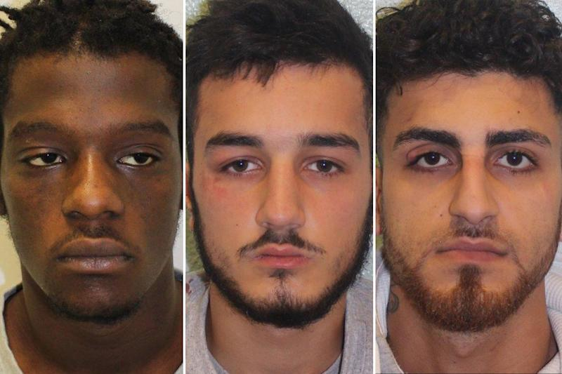 Jailed: the trio chased down and killed their victim following a long-running feud: Metropolitan Police