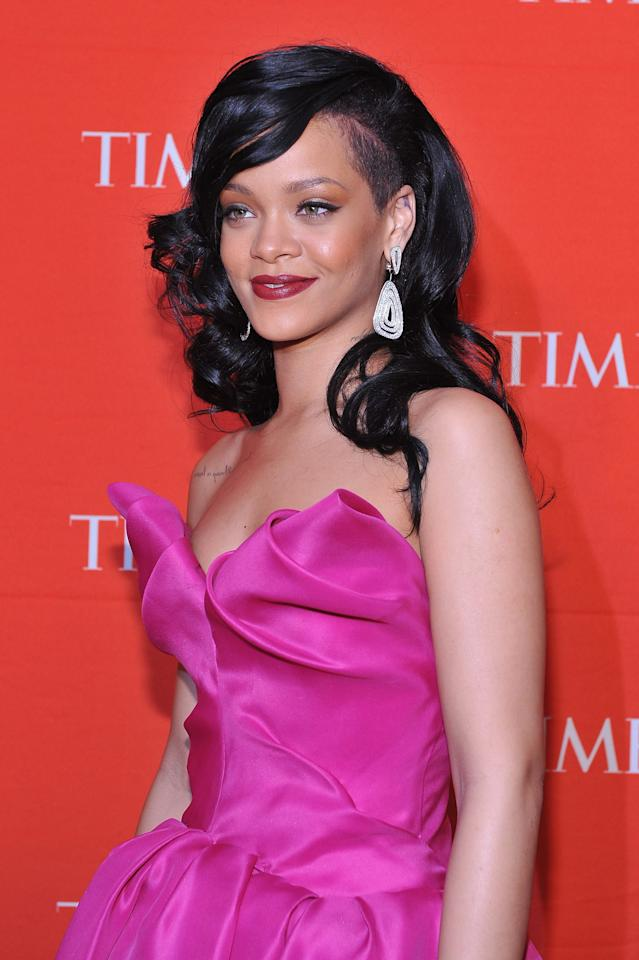 NEW YORK, NY - APRIL 24:  Rihanna attends the TIME 100 Gala celebrating TIME'S 100 Most Influential People In The World at Jazz at Lincoln Center on April 24, 2012 in New York City.  (Photo by Fernando Leon/Getty Images for TIME)