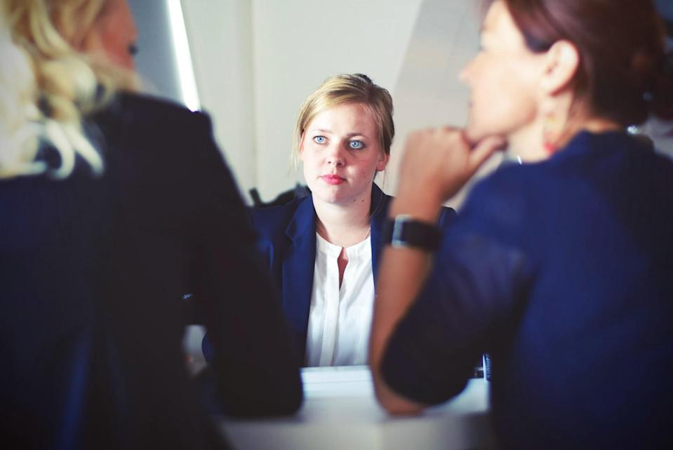 Woman at interview