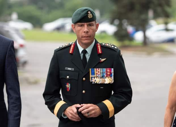 Maj.-Gen. Dany Fortin's two-day Federal Court hearing is underway. His legal team is fighting to get his secondment back with Canada's vaccine task force. (Justin Tang/Canadian Press - image credit)
