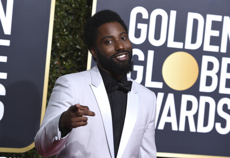 John David Washington arrives at the 76th annual Golden Globe Awards at the Beverly Hilton Hotel on Sunday, Jan. 6, 2019, in Beverly Hills, Calif. (Photo by Jordan Strauss/Invision/AP)