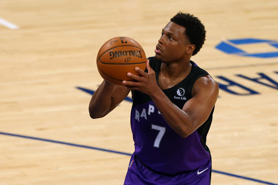 Toronto Raptors guard Kyle Lowry reportedly declined an invitation to play for Team USA, citing his impending free agency. (Rich Schultz/Getty Images)