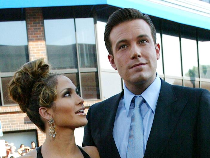 Jennifer Lopez and Ben Affleck in 2003 (Getty Images)