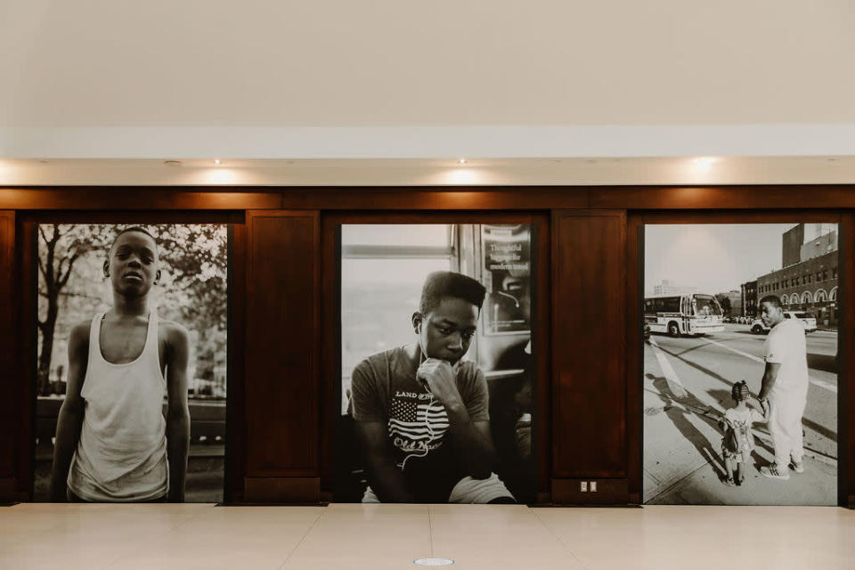 Three of Andre Wagners photographs on display at Union Station.