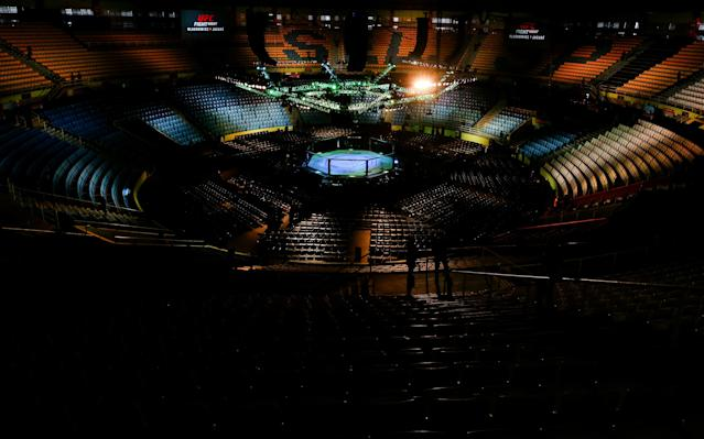 UFC events will be staged without any fans in attendance for the foreseeable future, according to Dana White. (Photo by Alexandre Schneider/Zuffa LLC via Getty Images)