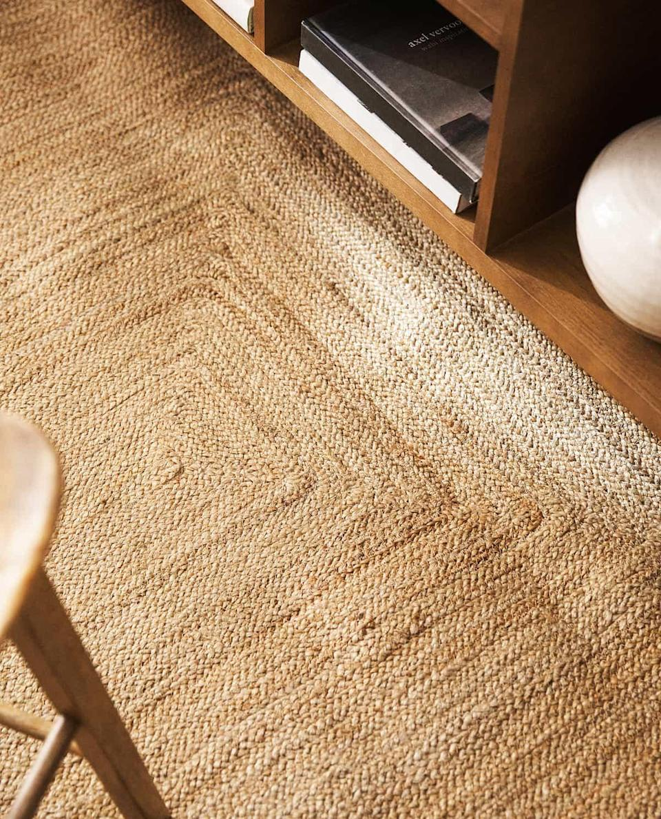 """I've been looking for a really nice rug for mine and my boyfriend's bedroom, one which will completely cover the carpet but also brighten up the room. This one is a little bit expensive but it's straight on my wish list.<br><br><strong>Zara Home</strong> Jute Rug, $, available at <a href=""""https://www.zarahome.com/gb/bedroom/rugs/jute-rug-c1020260014p302015618.html?ct=true"""" rel=""""nofollow noopener"""" target=""""_blank"""" data-ylk=""""slk:Zara Home"""" class=""""link rapid-noclick-resp"""">Zara Home</a>"""