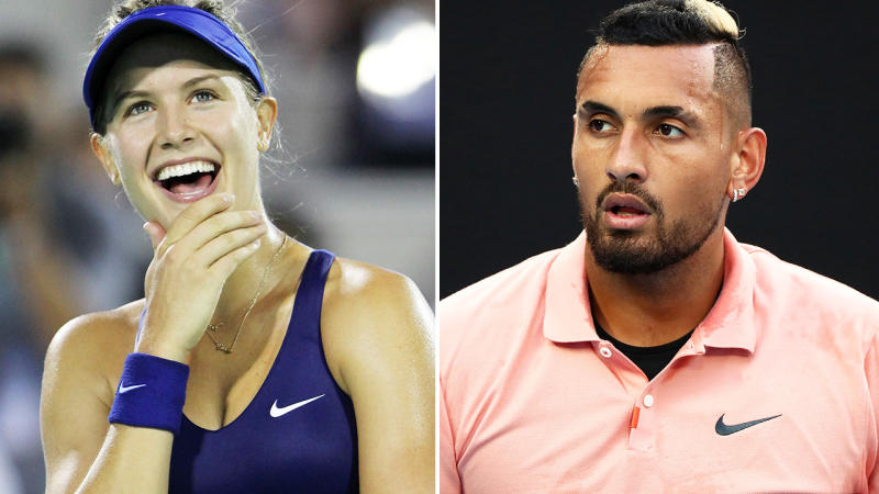 Eugenie Bouchard and Nick Kyrgios, pictured here on the tennis couirt.