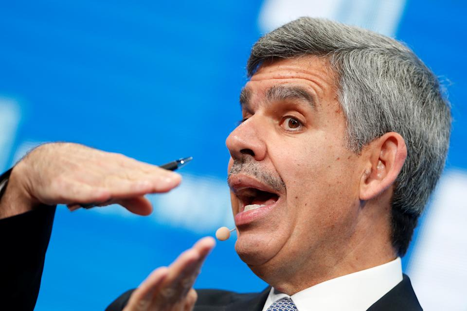 Mohamed El-Erian, Chief Economic Advisor of Allianz, speaks at the Milken Institute Global Conference in Beverly Hills, California, U.S., May 2, 2016. REUTERS/Lucy Nicholson