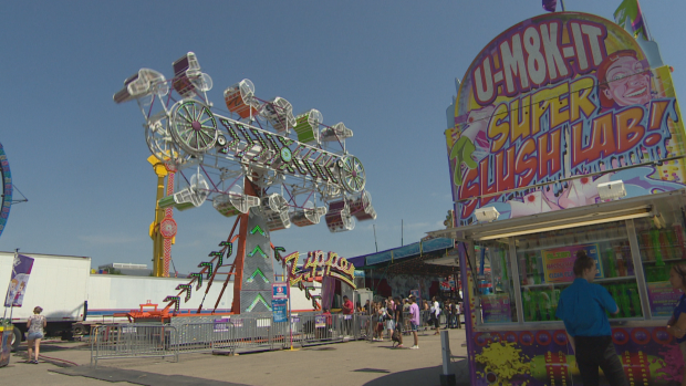 The beloved ride, The Zipper, is shown during the 2018 Queen City Ex.  (CBC News - image credit)