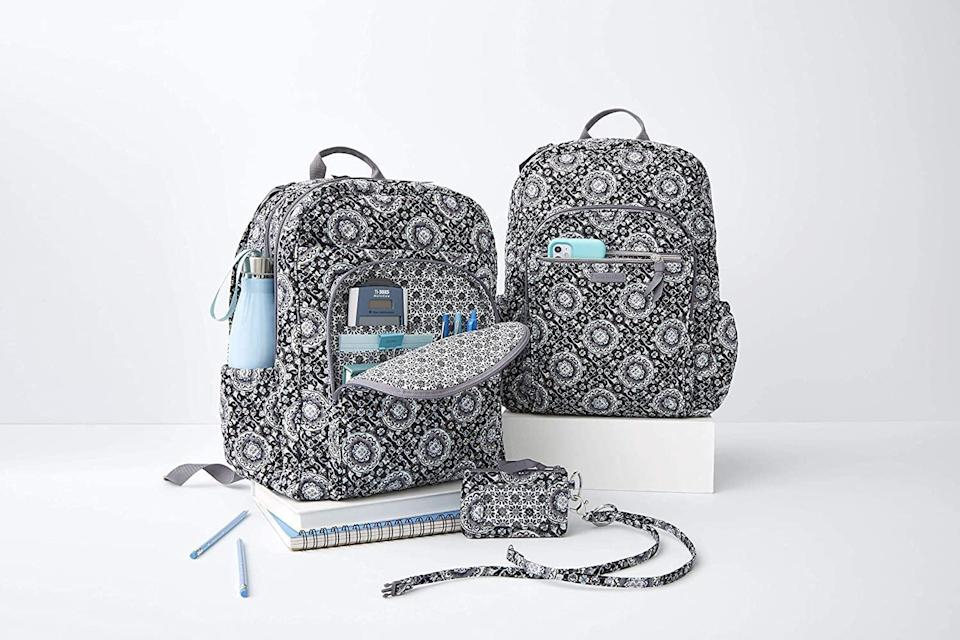<p>Give your little ones the stylish upgrade they deserve with the <span>Vera Bradley Women's Signature Cotton Campus Backpack</span> ($92). It features two zip pockets, two side slip pockets, and a hidden back zip pocket.</p>