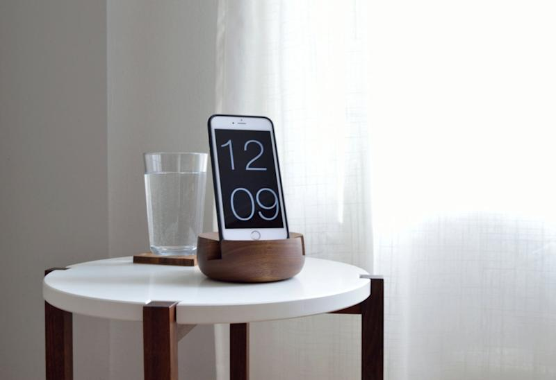 Phone Stand in Solid Walnut