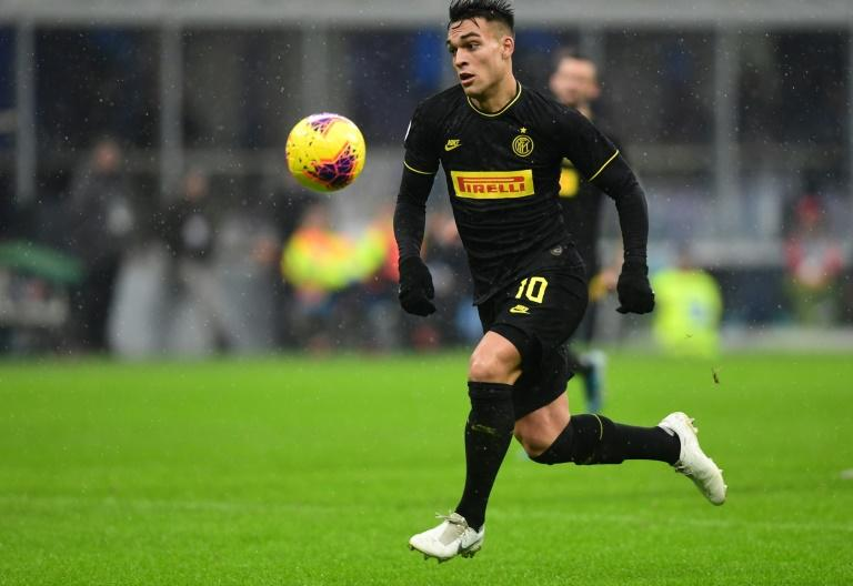 Lautaro Martinez scored twice to put Inter Milan top of Serie A