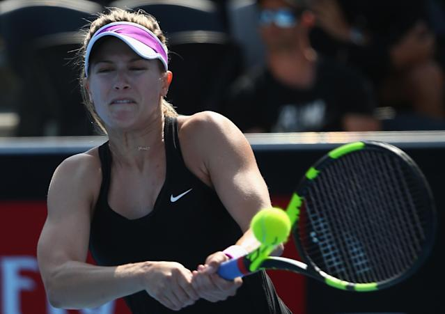 Eugenie Bouchard in cruise control in a quick victory over nemesis Bethanie Mattek-Sands in Hobart