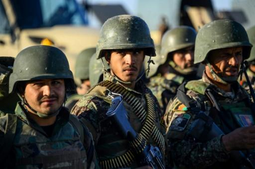 An Afghan soldier on a military exercise in Herat on December 29, 2019