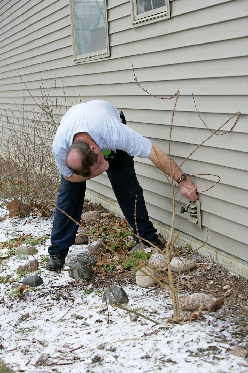 "<p>Take a walk around your property and make note of anything that could cause a problem this winter. ""Make sure your gutters are clear, and look for missing, cracked, or damaged roof tiles, as well as missing caulk around your windows and doors, or new cracks in the foundation,"" says Cristina Miguelez, a remodeling specialist at <a href=""https://www.fixr.com/"" rel=""nofollow noopener"" target=""_blank"" data-ylk=""slk:Fixr.com"" class=""link rapid-noclick-resp"">Fixr.com</a>, a home remodeling information website.</p>"