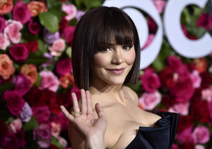 FILE - Katharine McPhee arrives at the 72nd annual Tony Awards on June 10, 2018, in New York. McPhee turns 37 on March 25. (Photo by Evan Agostini/Invision/AP, File)