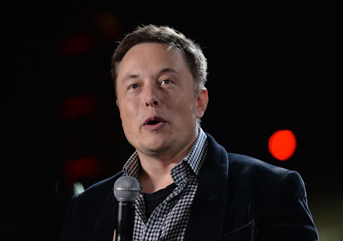 SpaceX CEO Elon Musk in Los Angeles on October 9, 2014 (AFP Photo/Mark Ralston)