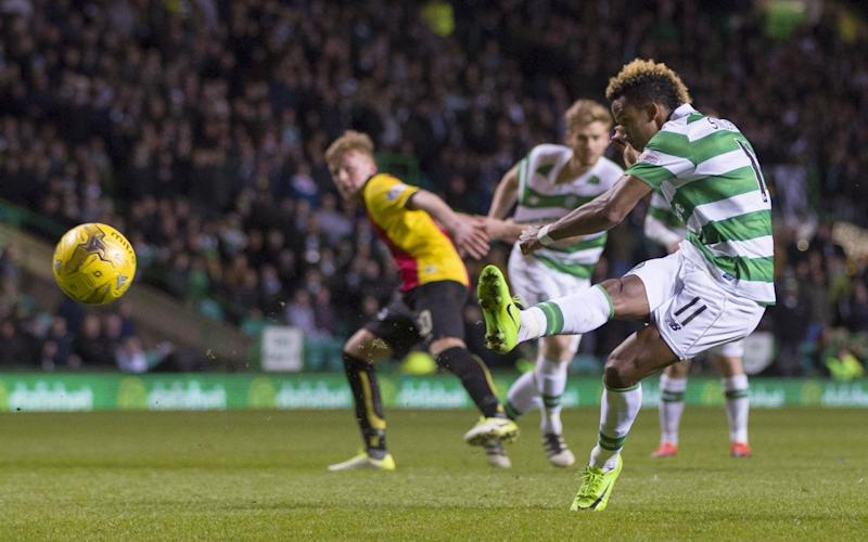 Scott Sinclair missed a penalty that would have won it for Celtic - Rex Features