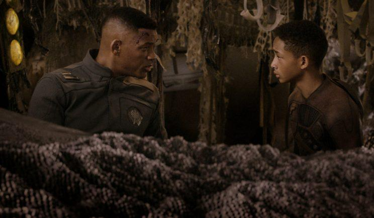 Will and Jaden Smith in 'After Earth - Credit: OutNow