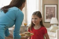 "<p>For a new tradition this Thanksgiving, have the younger guests to <a href=""https://www.goodhousekeeping.com/holidays/thanksgiving-ideas/g1532/thanksgiving-desserts/"" rel=""nofollow noopener"" target=""_blank"" data-ylk=""slk:serve dessert"" class=""link rapid-noclick-resp"">serve dessert</a>. Kids sometimes feel left out of the big day, especially if your family puts a kids' table away from the rest of the group. Ask the older children to help cut slices of pie or cake to give to the younger ones to serve. Bonus: this way, the adults get to relax a little longer! </p>"