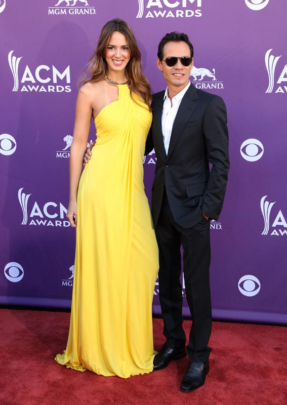 MARC ANTHONY AND SHANNON DELIMA Live from the RAM Red Carpet 47th Annual ACM Awards, Las Vegas, NV