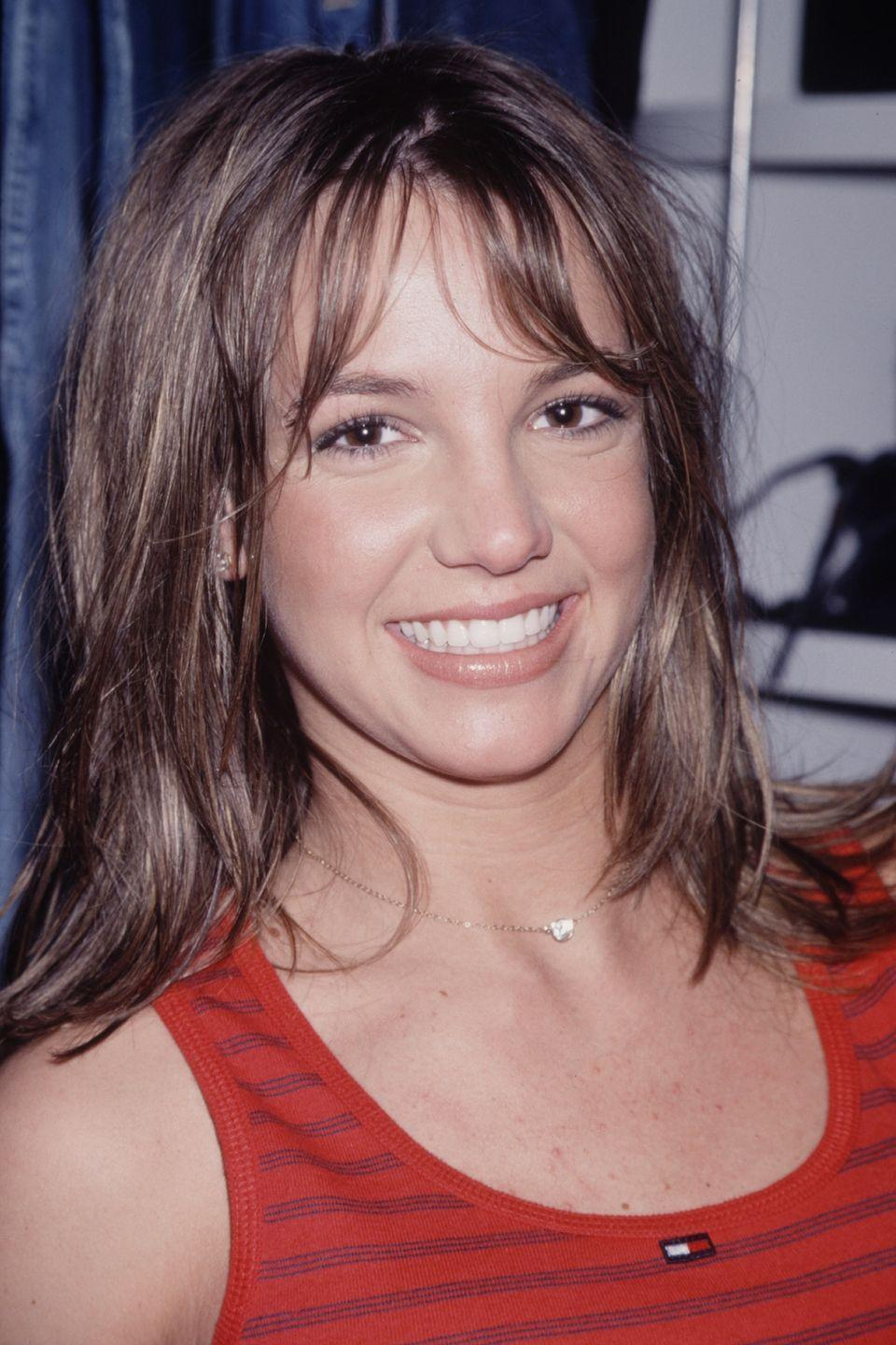 <p>Anyone who remembers her <em>Mickey Mouse Club</em> days knows Britney's hair matched her pretty brown eyes.</p>