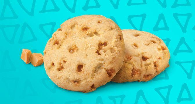 <p>Toffee is second only to caramel in the brown sugary category. It's crunchy and satisfying and pairs well with a substantial, slightly salted cookie like this one. </p>
