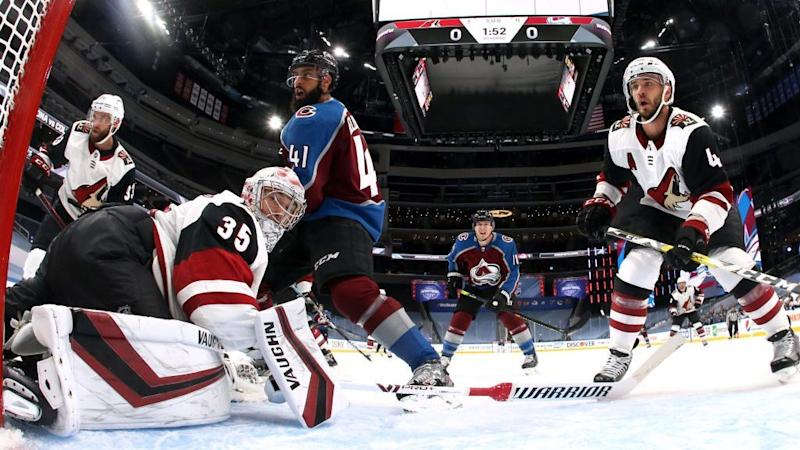 Avalanche overcome Kuemper, beat Coyotes in Game 1