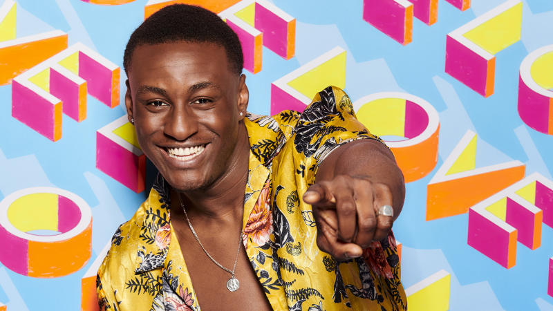 Sharif Lanre has left 'Love Island' after breaking the rules (Credit: ITV)