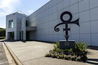 """The """"love"""" symbol outside of Paisley Park, Prince's home and studio in Chanhassen, Minnesota"""