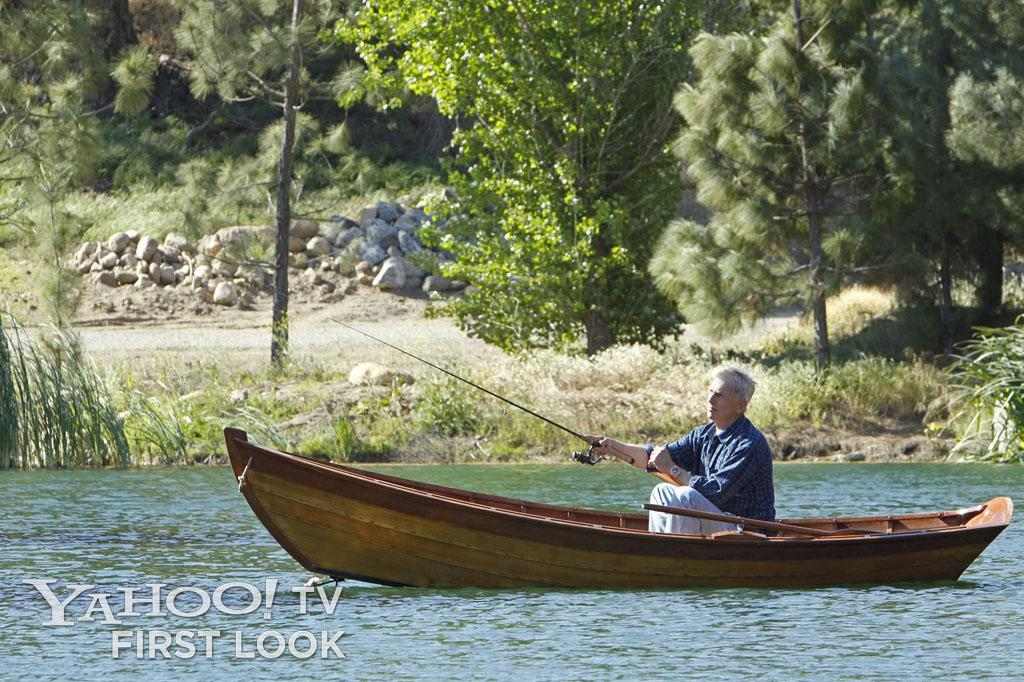 """Gibbs seeks peace and solace fishing. However, this scene is about so much more. You people know me better than that by now."" -- Gary Glasberg"
