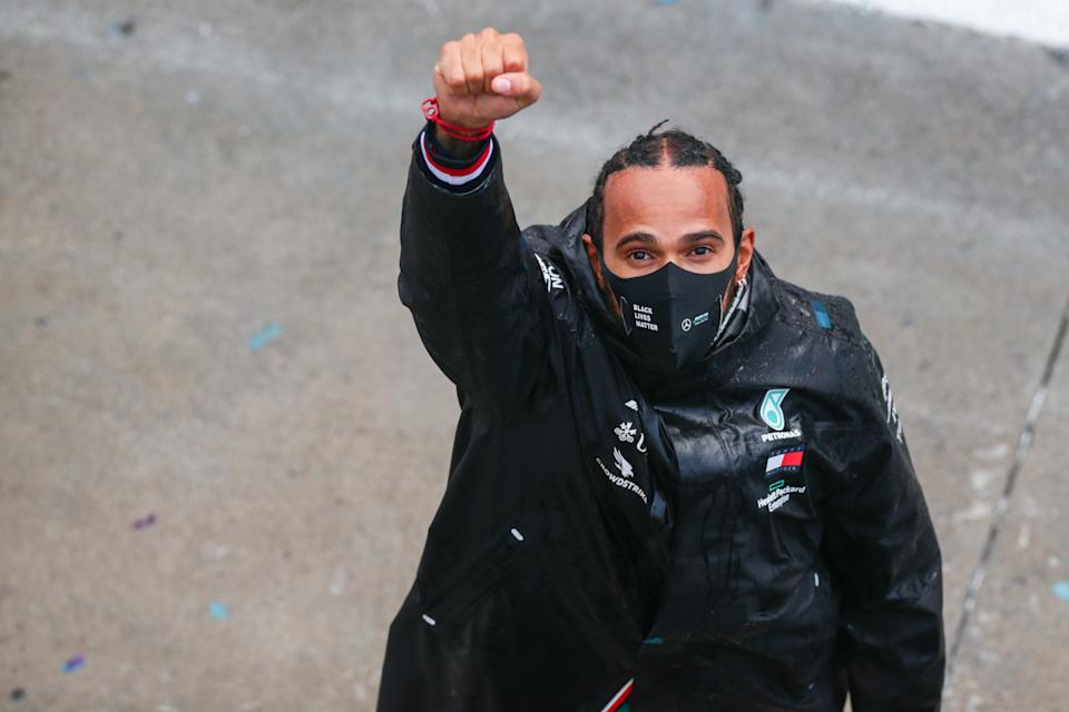 <em>Lewis Hamilton's victory at the Turkish Grand Prix was his 10th of the Formula One season (Peter Fox/Getty Images).</em>