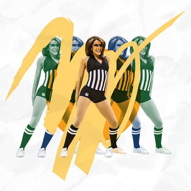 Chenelle Young danced for the Utah Jazz from 2010 to 2013. (Photo: Courtesy Chenelle Young; graphics: Quinn Lemmers for Yahoo Lifestyle)