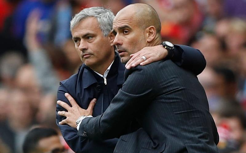 Jose Mourinho and Pep Guardiola will lock horns again for the first Manchester derby on a Thursday since 1994 - Action Images via Reuters
