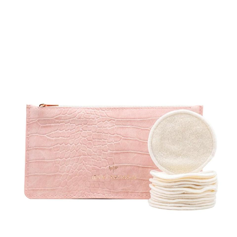 """I've been wanting to switch to <a href=""""https://www.glamour.com/gallery/reusable-makeup-remover-pads?mbid=synd_yahoo_rss"""" rel=""""nofollow noopener"""" target=""""_blank"""" data-ylk=""""slk:reusable cotton rounds"""" class=""""link rapid-noclick-resp"""">reusable cotton rounds</a> forever, but I've never been able to find some that perform as well as the real thing. These do. They're super soft, but also really thin so they don't soak up too much product. With a little micellar water, they take off makeup, including mascara, just as well as an oil cleanser, and they feel great on my skin. I also love that they come in this cute little pouch, so they don't end up strewn all over my bathroom. <em>—B.C.</em> $38, Bluemercury. <a href=""""https://shop-links.co/1705210765373717891"""" rel=""""nofollow noopener"""" target=""""_blank"""" data-ylk=""""slk:Get it now!"""" class=""""link rapid-noclick-resp"""">Get it now!</a>"""